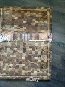 Teakhaus Teak Butcher Block 24 x 18 Cutting Board Rectangle NEW