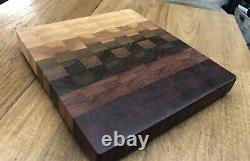 The Radiance Beautiful End Grain Cutting Board! Exotic/Domestic Wood Blend