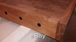 Traditional Sycamore Solid Reversible End Grain Butchers Block LOC BLOK SYSTEM