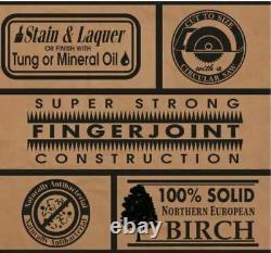 Unfinished Birch 4 ft. L x 25 in. D x 1.5 in. T Butcher Block Countertop Fast Sh