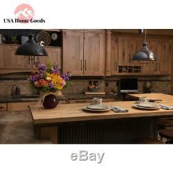 Unfinished Birch Butcher Block Countertop 100% Natural Hardwood Customizable
