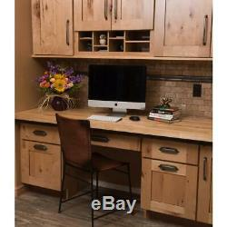 Unfinished Birch T Butcher Block Countertop Antimicrobial 3ft L x 3ft D x 1.5 in