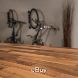 Unfinished Butcher Block Countertop 8 ft. 2 in. L x 2 ft. 1 in. D x 1.5 in. T