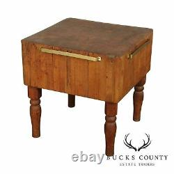 Vintage American Butcher Block Table