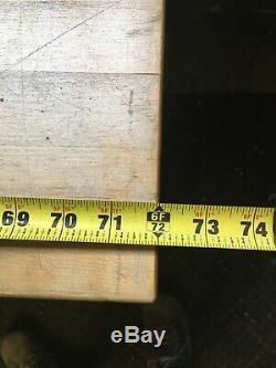 Vintage Antique Industrial Butcher Block Lab School Work Table Desk 24x72x31