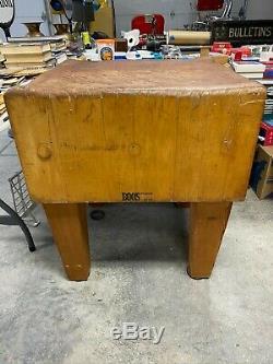 Vintage BOOS Wood Butcher Block 1960