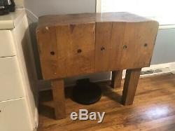 Vintage Boos Wood Butcher Block Table