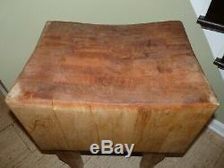 Vintage Butcher Block Solid Maple 24x18x31 8 Block Rustic Genuine in Ohio