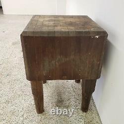 Vintage Butcher Block Table