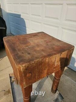 Vintage Butcher Block Table From Wide Awake Market Detroit