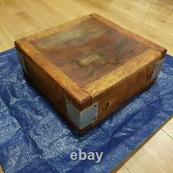 Vintage Butchers Block Without Stand Solid Wood