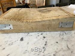 Vintage FRENCH BUTCHERs BLOCK, c. 1940s-50s, GIANT