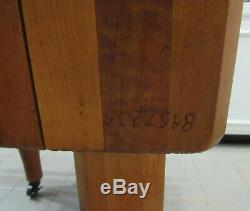 Vintage Handmade butcher block table 24x24x30.5