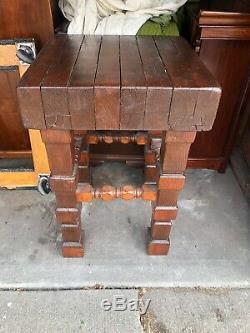 Vintage Heavy Wood BUTCHER BLOCK