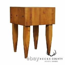 Vintage High Quality 24 Inch Maple Butcher Block Table