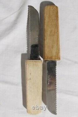 Vintage MCM Scandinavian Miniature Tabletop Butcher Block Footed Cutting Board
