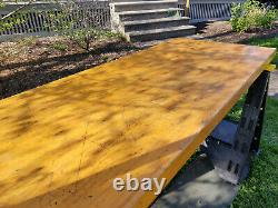 Vintage Maple 2.25 Thick Butcher Block Workshop Bench Surface / Top 27 x 64