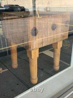 Vintage Maple Butcher Block Table 23x 23 X 30H 1923