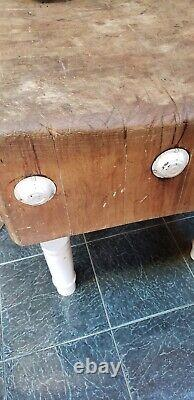 Vintage Original All Wood Butcher Block