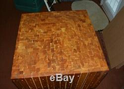 Vintage Solid Wood Heavy-Duty Butcher Block, Table or Kitchen Island