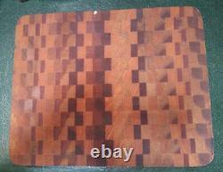 Vintage Wood Chopping Butchers Block Cutting Board Rectangular Multi Hardwood