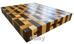 WALNUT CHERRY MAPLE Weave Designer Butcher Block Cutting Board NEW end grain