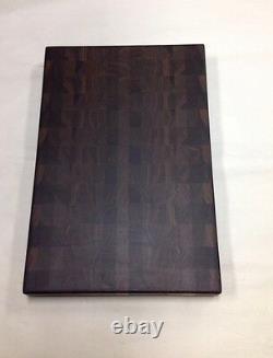 Walnut Butcher Block Cutting Board NEW End Grain 12 X 18 X 1-3/8 All Brown