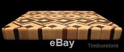 Walnut & Maple End Grain Butcher Block / Cutting Board / Cheese Board