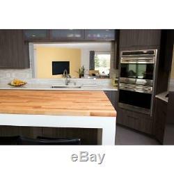Wood Butcher Block Counter Top 100% Northern European Birch 50 x 25 x 1.5 NEW