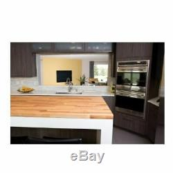 Wood Butcher Block Kitchen Countertop 4.2ftX2.1ftX1.5in Cutting Board Unfinished