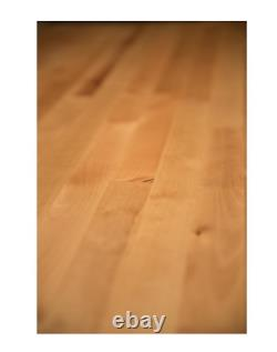 Wood Butcher Block Kitchen Countertop 6ft x 25in x 1.5in Cutting Board Unfinishe
