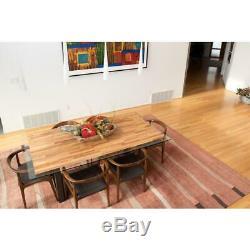 Wood Butcher Block Kitchen Countertop 74 in. X 39 in. X 1.5 in. Unfinished Birch