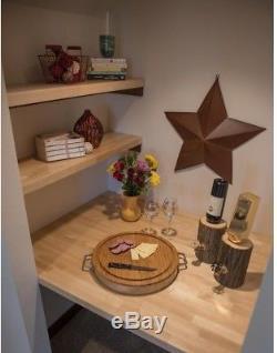 Wood Butcher Block Kitchen Countertop Unfinished Birch Cutting Board 98inx25x1.5