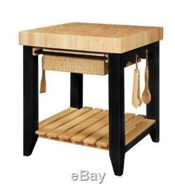 Wood Butcher Block Kitchen Island U. S. Seller