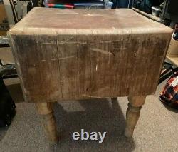 Wood Welde Trademark Michigan Maple Block Company butcher block table