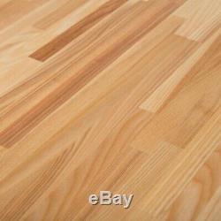 Wooden Butcher Block Countertop Work Bench Shelf Table Top Kitchen 50 in x 25 in