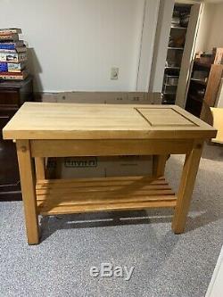 Wooden Butcher Block Table