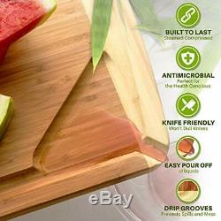 XXXL Extra Large Wood Butcher Block Cutting Board for Carving Turkey 30 x 20