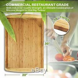 XXXL Extra Large Wood Butcher Block Cutting Board for XXXL (30 x 20 Inches)