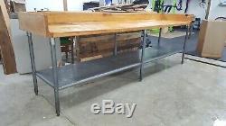 10' Bois Bloc Table Boucherie Withrolled Intérieure, Parois Edlund Ouvre-boîte Withmount