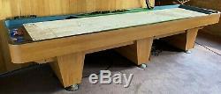12 Pieds Shuffleboard Table Arcade Jeu Butcher Block Bois