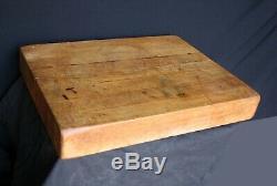 15x20 Antique Vintage Bois D'érable Butcher Bloc En Bois Planche À Découper Planche À Découper