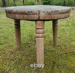 1850-80 Table Du Bloc Du Boucher Peint