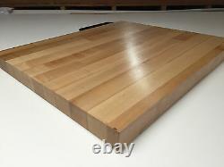 24-1/2 X 23-1/4 X 1-1/2 Maple Wood Butcher Block Counter Top // Planche À Découper