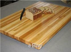 24 Chêne Massif Edge Grain Butcher Block Dessus De Table 18x24x1.25