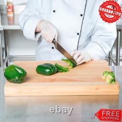 24 X 16 X 1 3/4 Wood Commercial Restaurant Solid Cutting Board Butcher Block