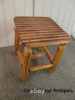 58570 Rustique Primitve Log Twig Boucher Bloc De Cuisine Table De Jardin Stand