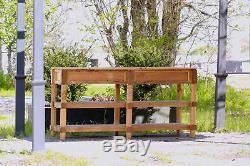 72 Table De Style Acadien Fabriquée À La Main En Bois Récupéré Avec Plateau En Faux Boucher