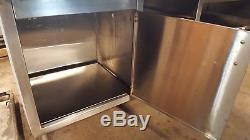 8 'x 36 Bakery Table De Préparation D'armoires En Acier Inoxydable D'époque Vintage-bloc De Boucherie, Travail Du Bois