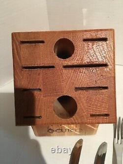 9 Couteaux Cutco Set & Lrg Homemaker Butcher Block Sharp Classic Handle Carver Set